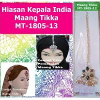 Maang Tikka MT-1805-13-Hiasan Rambut Kepala Dahi Headpiece-Ori India