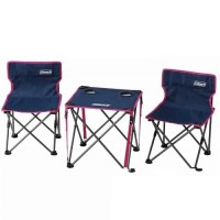 COMPACT CHAIR TABLE SET (NAVY)