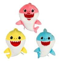 Baby shark music doll plush toys, boneka baby shark bisa bernyanyi