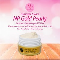 suncare pearly gold spf45 / sunblok glowing forte / krim siang super