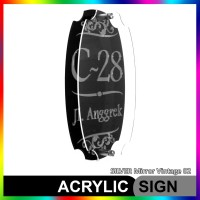 Nomor Rumah Akrilik / Acrylic SILVER Mirror Vintage 02