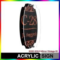 Nomor Rumah Akrilik / Acrylic ROSE GOLD Mirror Vintage 02