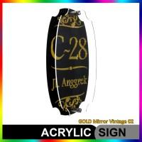 Nomor Rumah Akrilik / Acrylic GOLD Mirror Vintage 02
