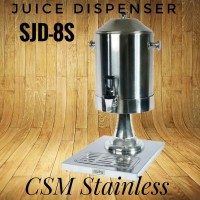Juice Dispenser Stainless Tempat Susu Kopi Teh Restoran Hotel SJD-8S