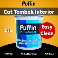 Cat tembok interior puffin easy clean 2.5L. Setara dulux easy clean.