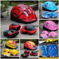 Helm Pelindung Set Anak-Anak utk Sepeda/Skuter