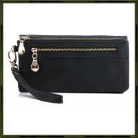 Dompet Wanita Clutch Long Zipper Smartphone Wallet - Hitam