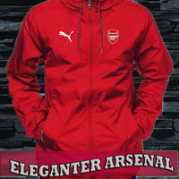 Jaket hoodie Parasut anti air tracker arsenal red