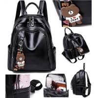 tas import wanita ransel bagpack kuliah hitam sporty tas batam 11393