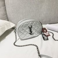 tas wanita selempang kecil pesta silver 20210 sling bag import batam