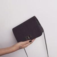 tas wanita import tas batam pesta clutch selempang hitam murah modis
