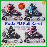 Sepatu Roda Anak BAJAJ Inline Skate Ban Roda Nyala Full Karet PU 1012