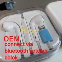 EarPods Lightning Connector Iphone 7 8 X Bluetooth apple earphone OEM