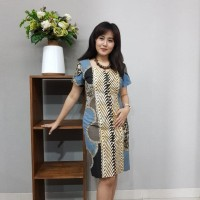 Dress Batik Katun Cirebon - Brand Batik Muda (Kode BAAD1211))