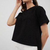 BERRYBENKA Manta Pleats Blouse Black