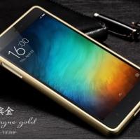 Aluminium Bumper Case with Arcylic Back for Xiaomi Mi4i / Mi4c - Golde