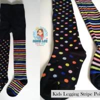KIDS LEGGING STRIPE POLKADOT / LEGGING ANAK / STOCKING ANAK / TIGHT