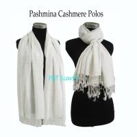 PASHMINA POLOS | PASHMINA POLOS PUITH | PASHMINA PUTIH |CASHMERE POLOS
