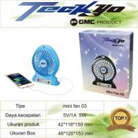 Mini Fan Power Bank TECKYO 03
