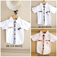 BAJUKIDDIE BURBERRY TOP WHITE . kaos kemeja anak laki branded merk