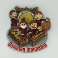 Souvenir magnet kulkas Gamelan oleh oleh Indonesia