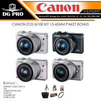 CANON EOS M100 KIT 15-45MM PAKET BONUS - KAMERA CANON MIRRORLESS PROMO