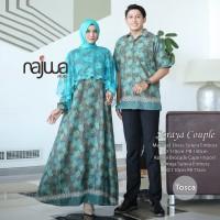 Baju couple sarimbit batik mix broklat edisi lebaran