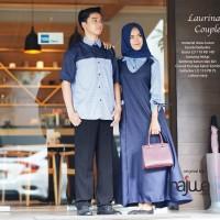 Baju Cople couple sarimbit muslim edisi lebaran ori najwa