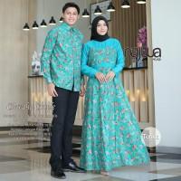 Baju set gamis couple sarimbit muslim ori Najwa terbaru lebaran