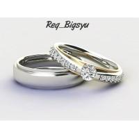 Cincin Kawin Tunangan Perak Couple Req_Bigsyu
