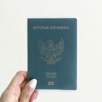 Sampul Passport Doff Transparan Cover