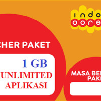 Voucer data Indosat 1GB + unlimited