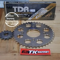 Gear Set TK Jupiter Z / Vega R / F1ZR & Rantai TDR 415 ER Gold