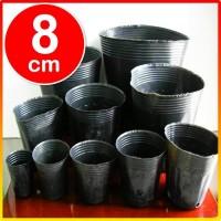 1000 pcs Pot Polibag Polybag kecil pembibitan bibit impor cetak 8cm