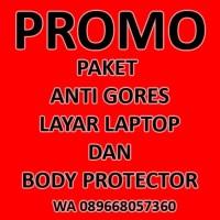 PROMO PAKET ANTI GORES LAYAR LAPTOP dan BODY PROTECTOR