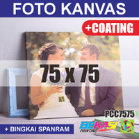PCC7575 Cetak Foto Kanvas / Canvas Photo Print 75 x 75 cm COATING