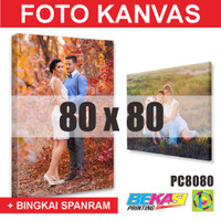PC8080 Cetak Foto Kanvas / Canvas Photo Print 80 x 80 cm