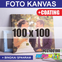 PCC100100 Cetak Foto Kanvas / Canvas Photo Print 100 x 100 cm COATING