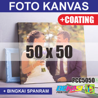 PCC5050 Cetak Foto Kanvas / Canvas Photo Print 50 x 50 cm COATING