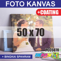 PCC5070 Cetak Foto Kanvas / Canvas Photo Print 50 x 70 cm COATING