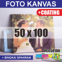 PCC50100 Cetak Foto Kanvas / Canvas Photo Print 50 x 100 cm COATING