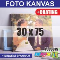 PCC3075 Cetak Foto Kanvas / Canvas Photo Print 30 x 75 cm COATING