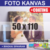 PCC50110 Cetak Foto Kanvas / Canvas Photo Print 50 x 110 cm COATING
