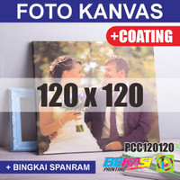 PCC120120 Cetak Foto Kanvas / Canvas Photo Print 120 x 120 cm COATING