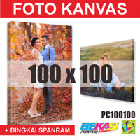 PC100100 Cetak Foto Kanvas / Canvas Photo Print 100 x 100 cm