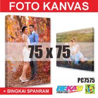 PC7575 Cetak Foto Kanvas / Canvas Photo Print 75 x 75 cm