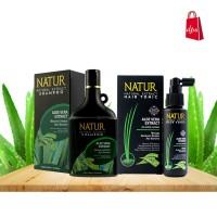 Paket Natur Shampo dan Tonik Aloe Vera
