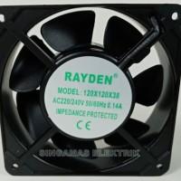 Cooling Fan Raiden CPU-DVR-Monitor-DLL 120mm x 120 x 38mm