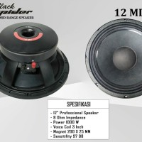 speaker 12inch blackspider black spider