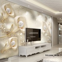 Wallpaper Dinding Custom Bunga 3D- Wallpaper Custom Murah 3D